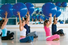 Pilates ball class Victoria BC